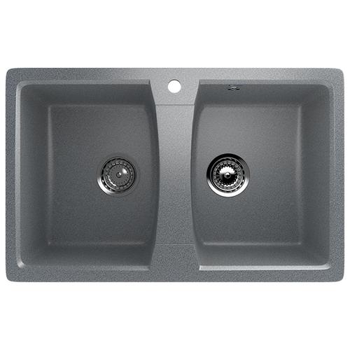 Врезная кухонная мойка 77 см Ulgran U-402 309 темно-серый врезная кухонная мойка 56 см ulgran u 104 309 темно серый
