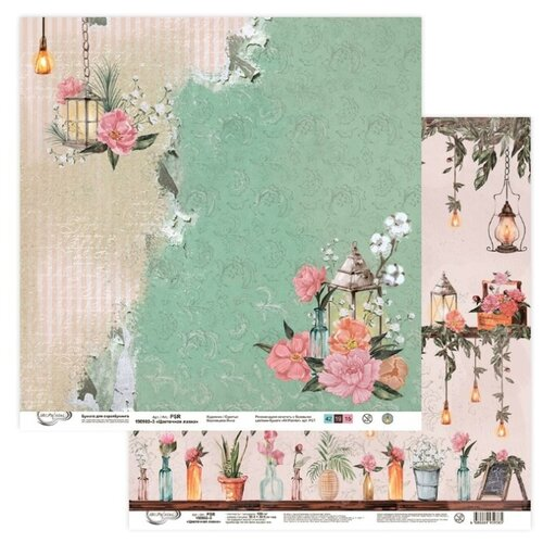 Купить Бумага Mr. Painter 30, 5x30, 5 см, 10 листов, PSR 190902 03 Цветочная лавка розовый/зеленый, Бумага и наборы