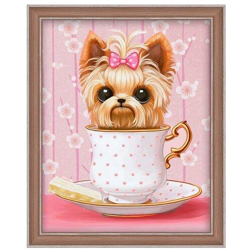 Купить Алмазная живопись Набор алмазной вышивки Озорной щенок (АЖ-1542) 20х25 см, Алмазная вышивка