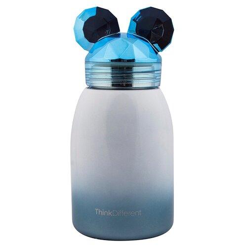 Термостакан Мышонок 17 см синий Эврика