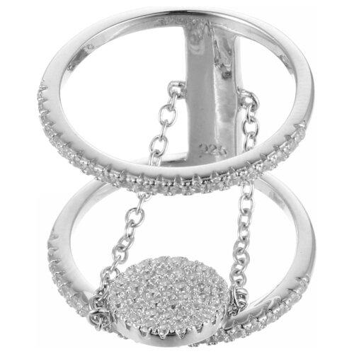 JV Кольцо с фианитами из серебра R24187-BW-001-WG, размер 18.5 фото