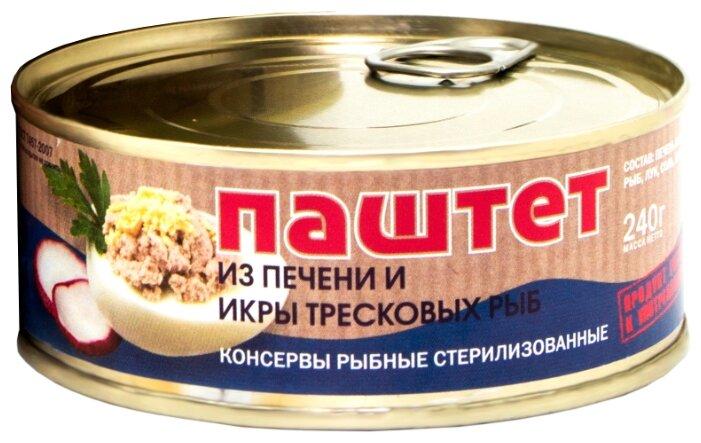 Паштет B&K Seafood из печени тресковых рыб 240 г