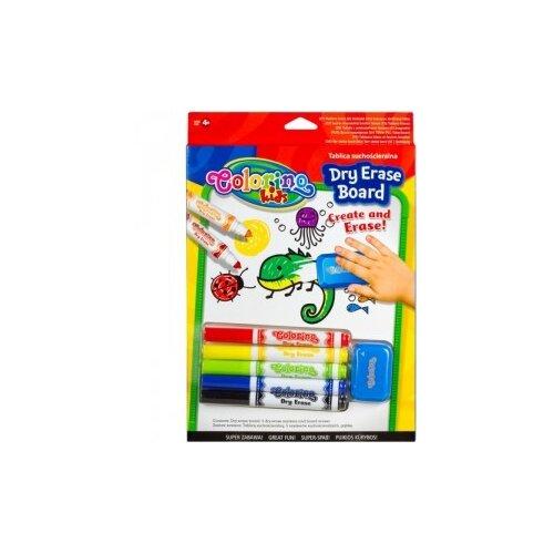 Набор для творчества (доска для маркеров, маркеры для доски 5 цветов, губка для стирания)