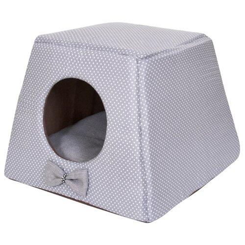 Домик для собак и кошек HutPets Multihouse 45х45х35 см Gray Peas