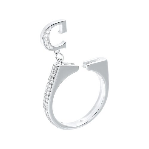 JV Кольцо с фианитами из серебра R27208-KO-001-WG, размер 16 jv кольцо с фианитами из серебра r27208 ko 001 wg размер 16