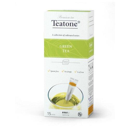 Чай зеленый Teatone в стиках, 15 шт. earl grey чёрный чай с ароматом бергамота teatone в стиках для разовой заварки 100шт 1 8г