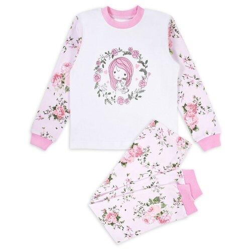 Купить Пижама Веселый Малыш размер 98, белый/розовый/зеленый, Домашняя одежда