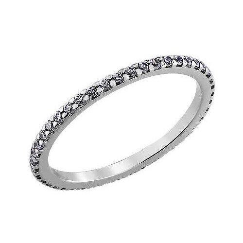 SOKOLOV Кольцо с 40 фианитами из серебра 94010609, размер 16.5 фото