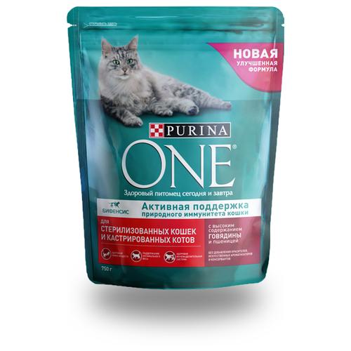 корм сухой purina one мини моя собака…уже взрослая с говядиной и рисом 600 г Сухой корм для стерилизованных кошек Purina ONE с говядиной, с пшеницей 750 г