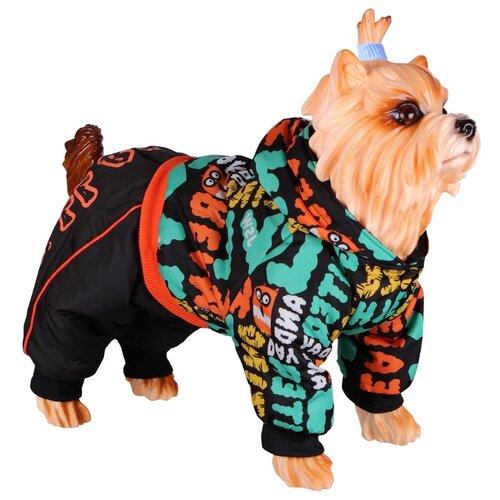 Комбинезон для собак DEZZIE 56355 мальчик, 20 см черный/оранжевый/зеленый
