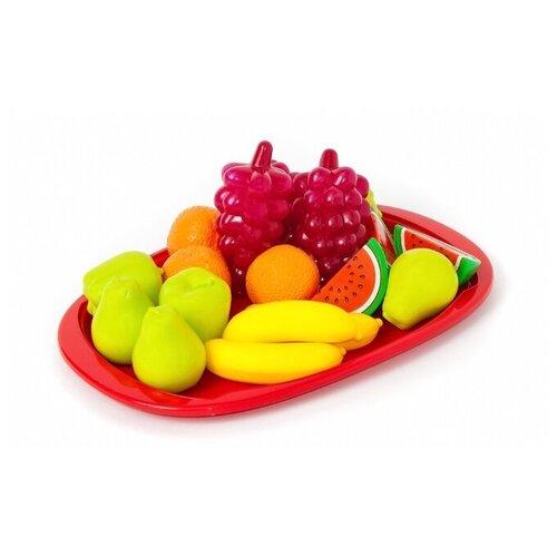 Набор продуктов с посудой Orion Toys Фруктовый десерт 379в2 красный/зеленый/желтый каталка толокар orion toys мотоцикл 2 х колесный 501 зеленый