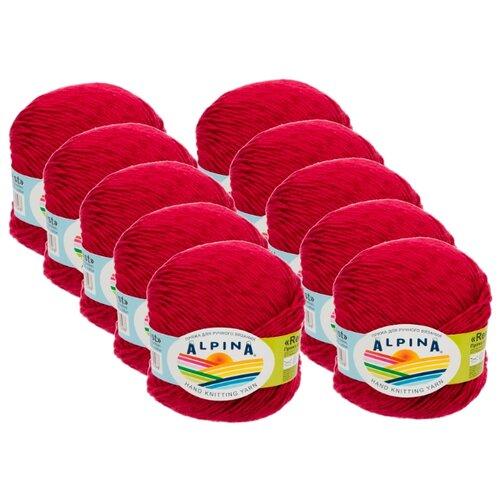 Фото - Пряжа Alpina Rene Twist, 100 % хлопок, 50 г, 125 м, 10 шт., №04 вишневый пряжа alpina rene 100 % хлопок 50 г 150 м 10 шт 001 черный
