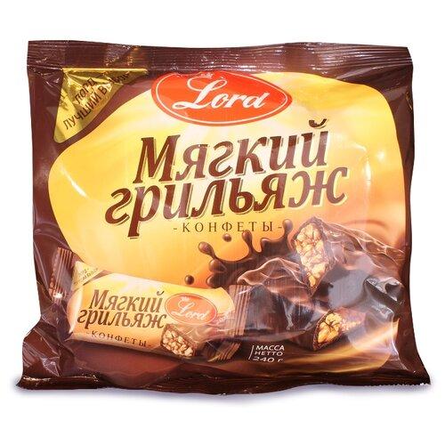 Фото - Конфеты Lord в шоколадной глазури мягкий грильяж с арахисом 240 г грецкий орех кремлина в шоколадной глазури 135 г
