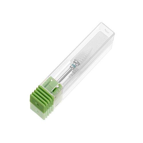 Фото - Фреза для педикюра KrasotkaPro керамическая Кукуруза D=6 мм, зеленая (87361), белый irisk фреза керамическая цилиндр оранжевая d 6 мм