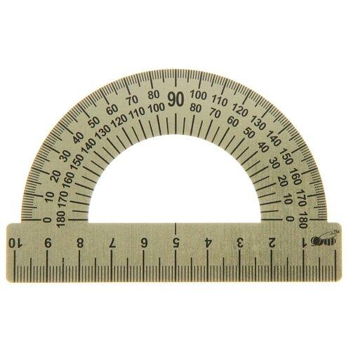 Купить Пчёлка Транспортир металл 180° 10 см (ТС-10) металлик, Чертежные инструменты