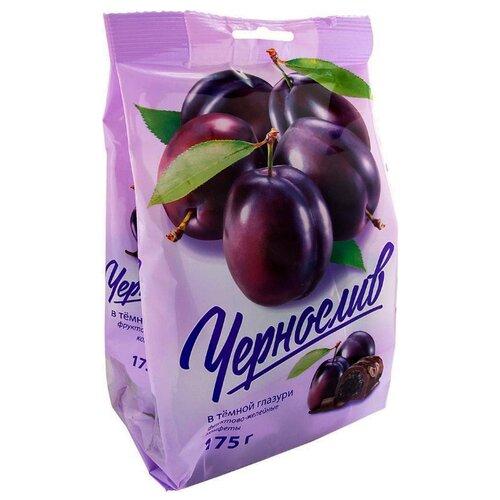 Конфеты Good Food Чернослив в темной глазури 175 г конфеты good food марципановое пралине пакет 200 г