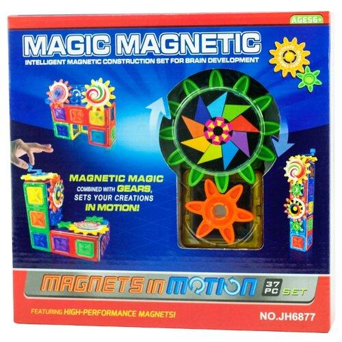 Купить Магнитный конструктор Наша игрушка Magic Magnetic JH6877, Конструкторы