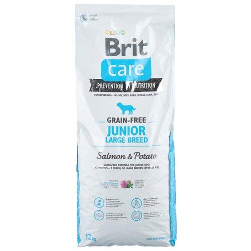 Сухой корм для собак Brit Care беззерновой, лосось, с картофелем 12 кг (для крупных пород)