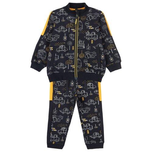 Комплект одежды playToday размер 74, темно-синий/оранжевый комплект одежды playtoday размер 74 темно синий серый