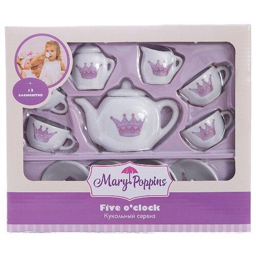 Набор посуды Mary Poppins Корона 453013 белый/фиолетовый набор посуды mary poppins корона 13 предметов фарфоровая 453013