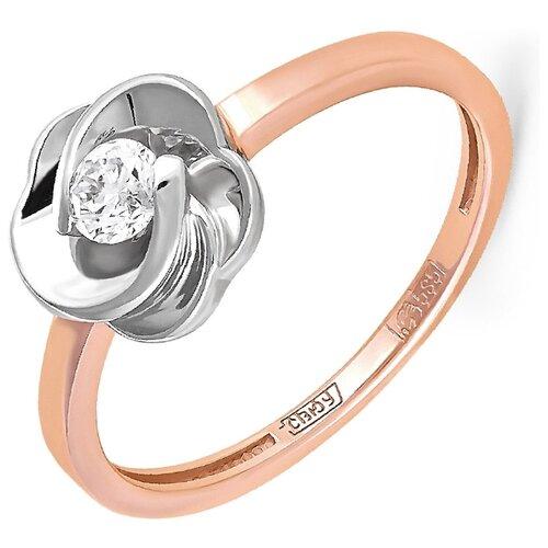 KABAROVSKY Кольцо с 1 бриллиантом из красного золота 11-0887-1000, размер 16 kabarovsky кольцо с 1 бриллиантом из красного золота 1 0336 1000 размер 16 5