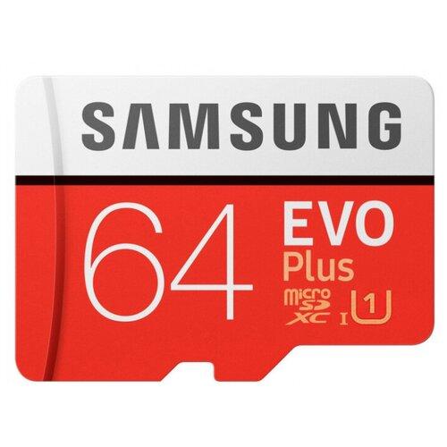Фото - Карта памяти Samsung EVO microSDXC 64Gb Class 10 UHS-I U1 карта памяти microsdxc 64gb cl10 u1 c адаптером flexis