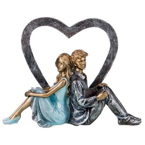 Фото - Статуэтка Lefard Влюбленные 162-706, 16.5 см голубой/серый статуэтка lefard балерина 699 157 18 см белый серебристый