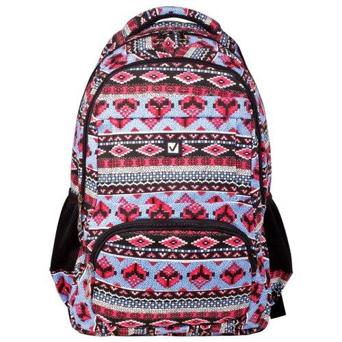 Купить BRAUBERG рюкзак Фигуры (226353), черный/красный/голубой, Рюкзаки, ранцы