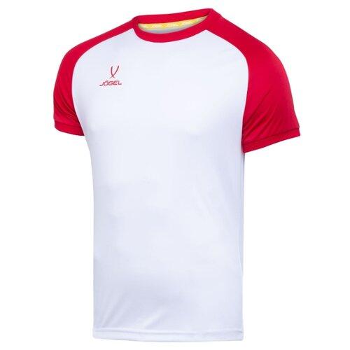 Футболка Jogel размер YL, белый/красный, Футболки и топы  - купить со скидкой