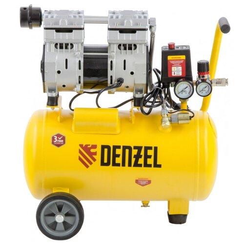 Компрессор безмасляный Denzel DLS 950/24, 24 л, 0.95 кВт