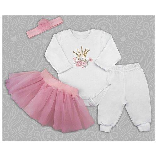 Купить Комплект одежды Топотушки размер 74, белый/розовый, Комплекты