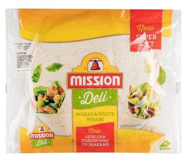 Mission Deli Лепешки пшеничные зерновые бездрожжевые 250 г