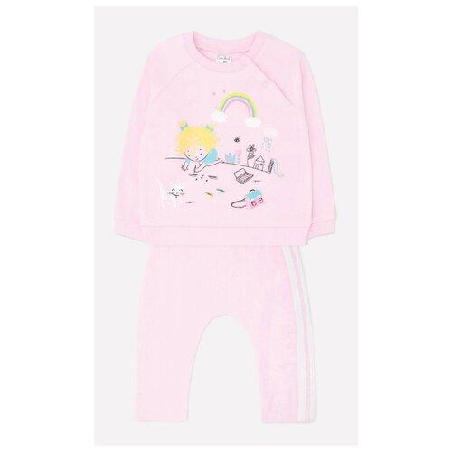 Купить Комплект одежды crockid размер 74, нежно-розовый, Комплекты