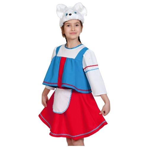 Купить Костюм КарнавалOFF Сказочный теремок Зайка Хозяйка (8022), красный/голубой/белый, размер 98-128, Карнавальные костюмы