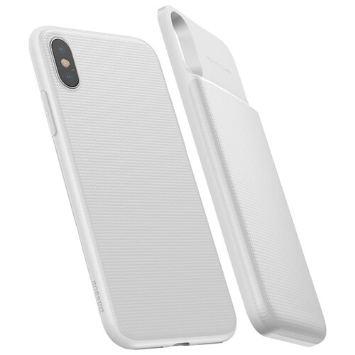 Чехол-аккумулятор Baseus Wireless Charge Backpack (ACAPIPHX-ABJ01) для Apple iPhone X white 300 x 36 6 12 300x36