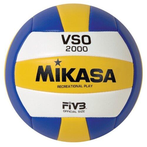 Фото - Волейбольный мяч Mikasa VSO2000 белый/желтый/синий волейбольный мяч mikasa vt500w желто синий