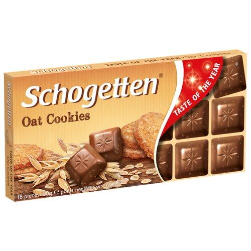 Шоколад Schogetten Oat Cookies молочный с кусочками овсяного печенья, 100 г