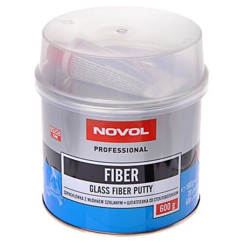 Комплект (шпатлевка, отвердитель) NOVOL FIBER 0.6 кг