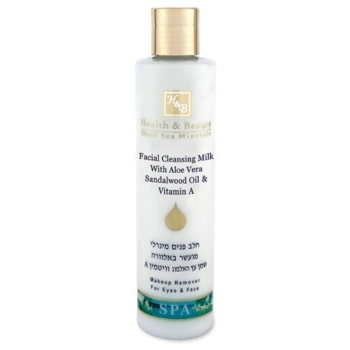 Health & Beauty молочко очищающее для лица и глаз Facial Cleansing Milk with Aloe Vera, Sandalwood Oil and Vitamin A, 250 мл недорого