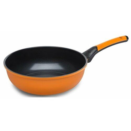 Сковорода-вок Oursson Palette PW2802C, 28 см, оранжевый сковорода блинная oursson palette pf2600d 26 см красный