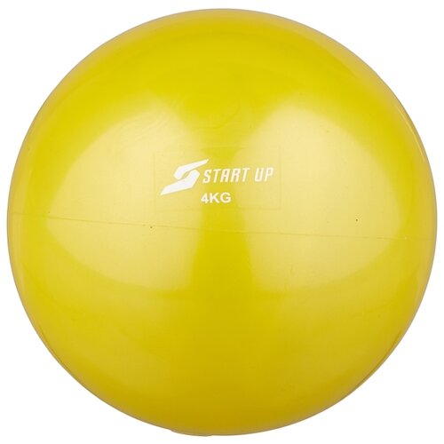 Медбол START UP NT40510, 4 кг желтый медбол start up nt40320 1 кг черный желтый