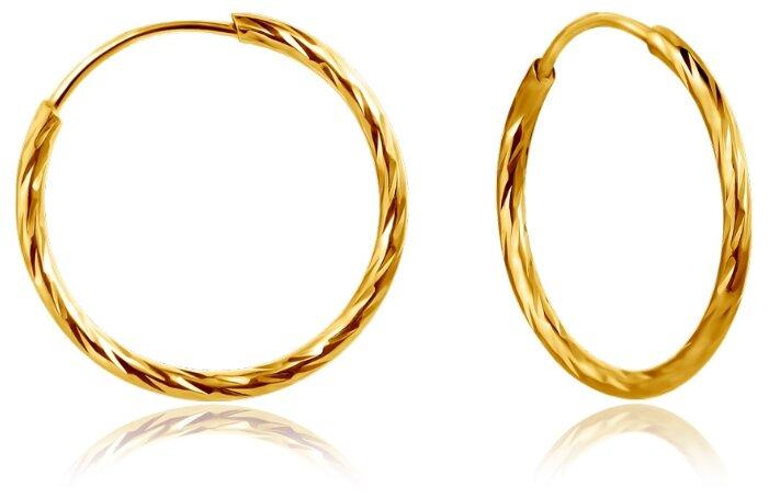 Бронницкий Ювелир Серьги из желтого золота 56020430000