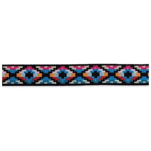 Купить Лента Prym Эластичная лента Color этно (957458) синий/ярко-розовый, Декоративные элементы