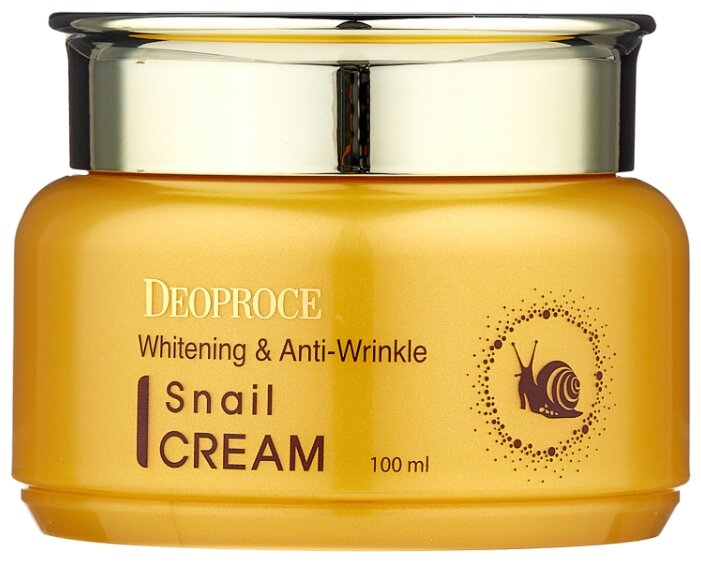 Deoproce Whitening And Anti-Wrinkle Snail Cream Крем для лица с экстрактом улитки, 100 мл