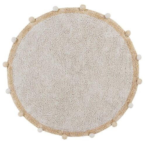 Фото - Ковер Lorena Canals с помпонами, диаметр: 1.2 м, медовый ковры lorena canals ковер с помпонами 120d