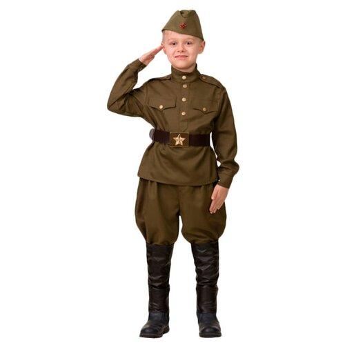 Купить Костюм Батик Солдат (8011), хаки, размер 158, Карнавальные костюмы