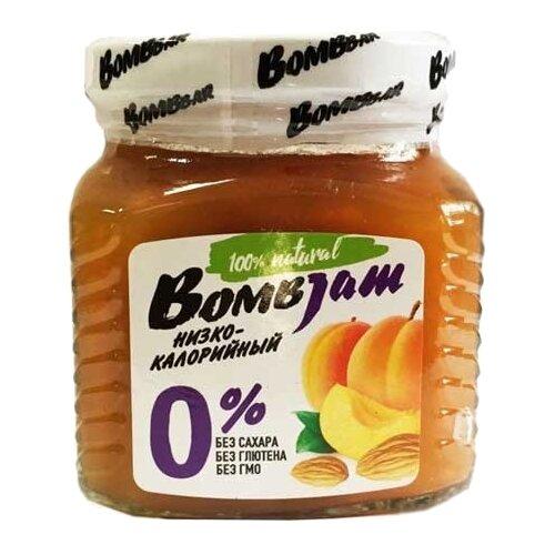 Джем низкокалорийный BombBar Абрикос-Миндаль без сахара, банка 250 г