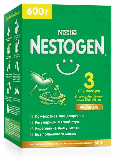 Смесь Nestogen (Nestlé) 3 (с 12 месяцев) 600 г — купить по выгодной цене на Яндекс.Маркете
