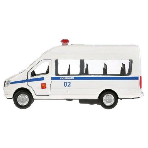 Купить Микроавтобус ТЕХНОПАРК ГАЗель Next Полиция (SB-18-19-P(W)-WB) 12 см белый/синий, Машинки и техника