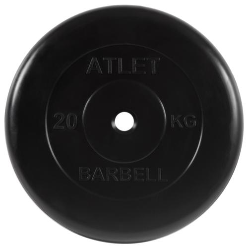 Фото - Диск MB Barbell MB-AtletB51 20 кг черный mb mp16daru